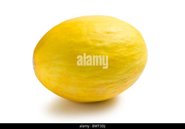 the honeydew melon on white background - Stock Image