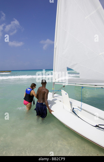 Dominican Republic, Bayahibe, Viva Wyndham Dominicus Beach. (MR) - Stock Image