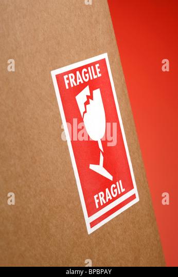 Fragile sticker - Stock Image