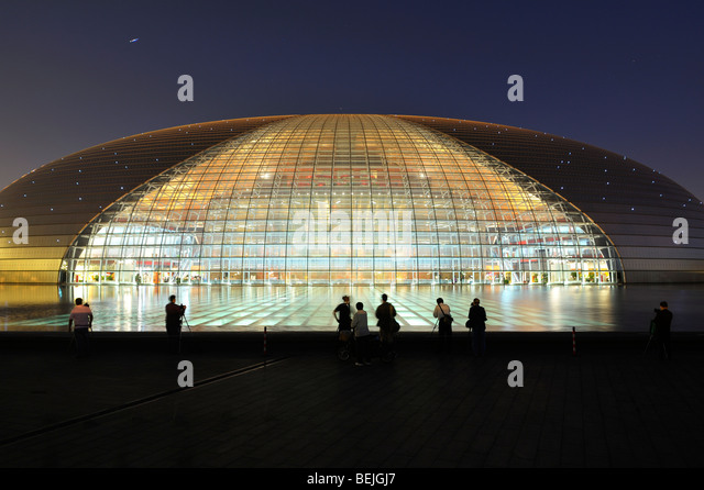 Egg theatre stock photos egg theatre stock images alamy for Beijing opera house architect