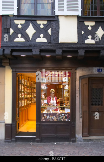 patisserie shop colmar alsace france - Stock Image