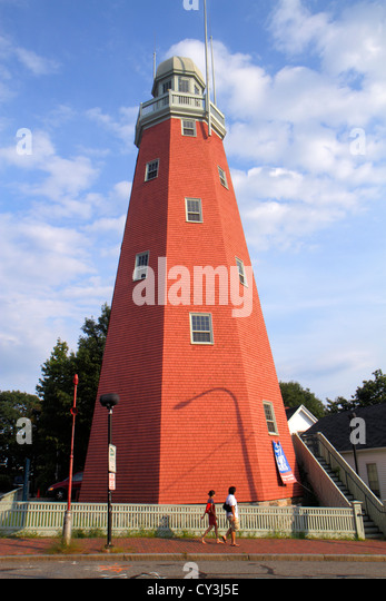 Portland Maine Congress Street Portland Observatory built 1807 last surviving maritime signal tower historical building - Stock Image