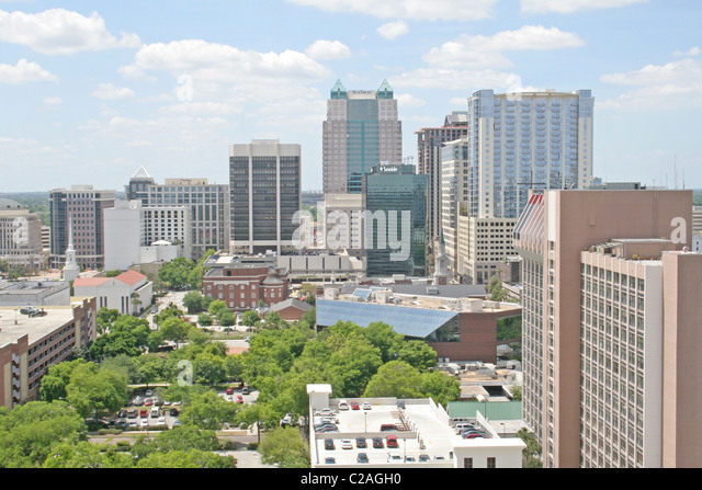 Elevated view downtown 2008, Orlando Florida - Stock Image