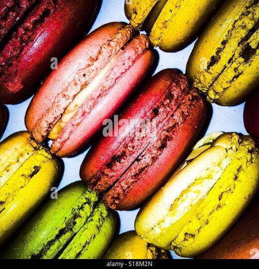 Colourful macaroons - Stock-Bilder
