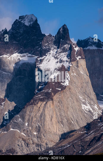 Mountains of Torres del Paine, Chile - Stock Image