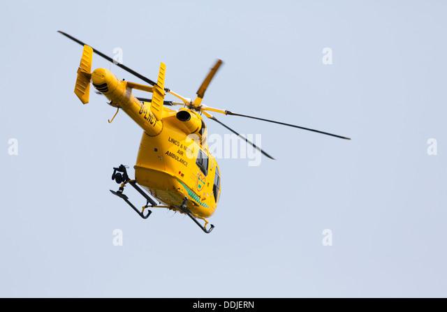 Lincs and Notts air ambulance - Stock Image