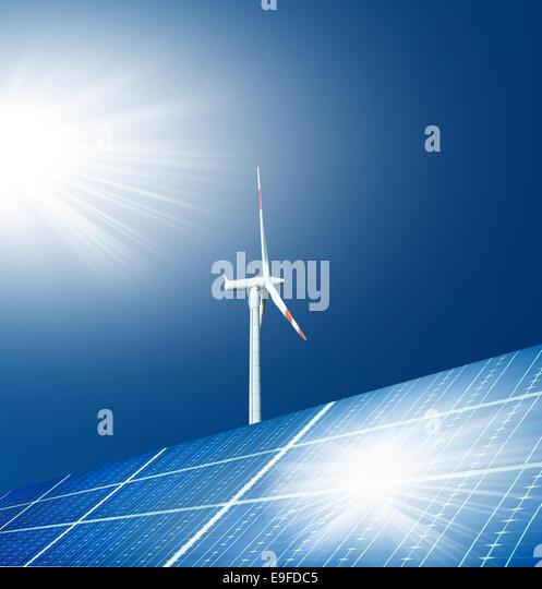 renewable energy alternatives wind and solar - Stock Image