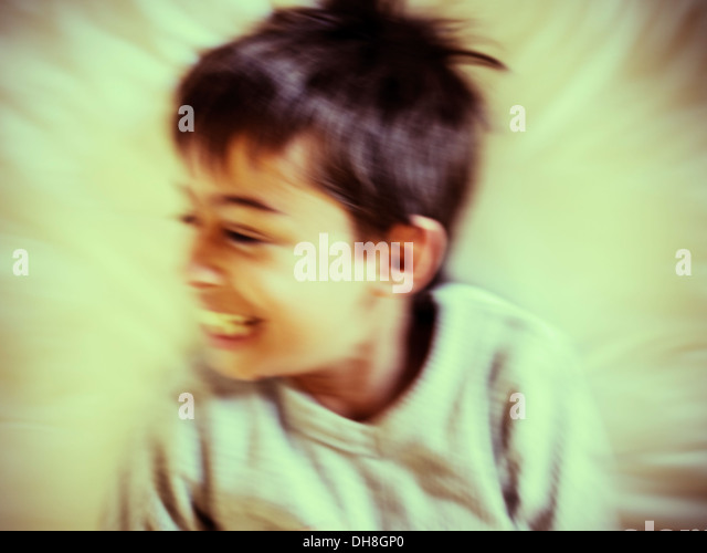 Happiness in motion - Stock Image