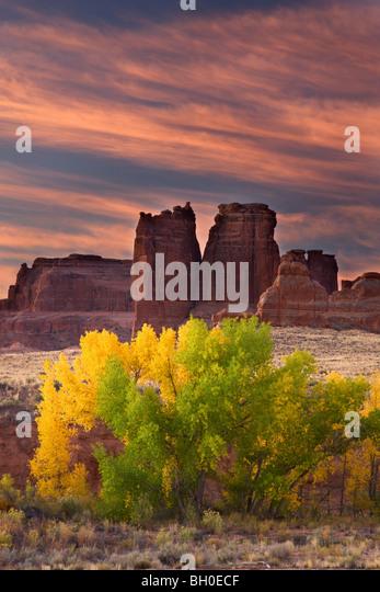 Courthouse Wash, Arches National Park, near Moab, Utah. - Stock-Bilder