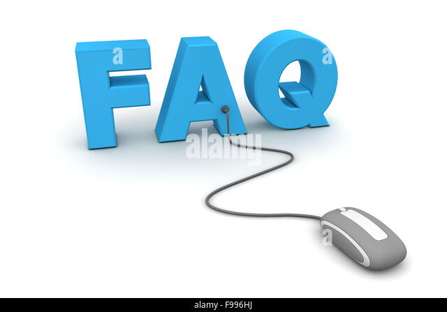 Browse the FAQ - Gray Mouse - Stock Image