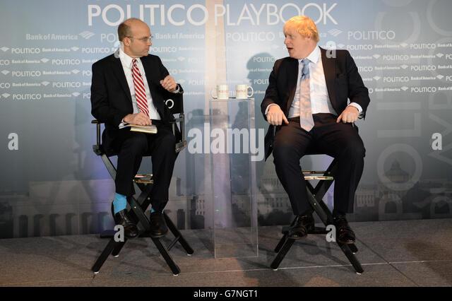 Boris Johnson visit to the USA - Day 6 - Stock Image
