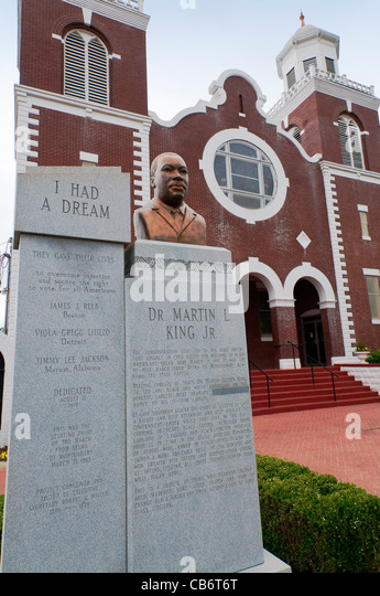Alabama, Selma, Brown Chapel AME Church, starting point of 1965 Selma to Montgomery voting rights march - Stock Image