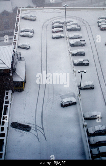 winter weather with cars and snow - Stock-Bilder