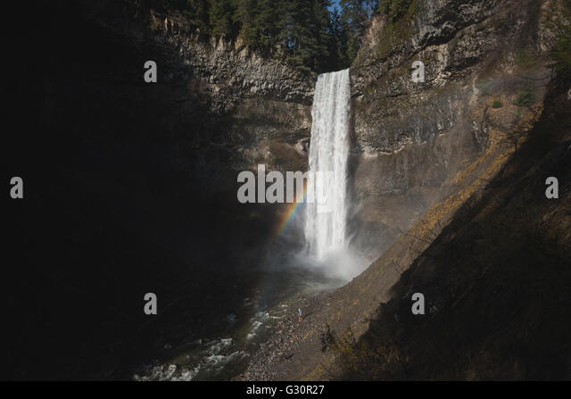 Brandywine falls near Whistler in Canada - Stock Image