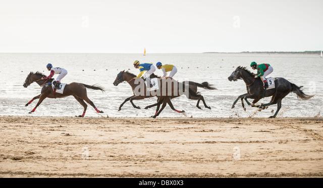 Sanlucar's horse races - Stock Image