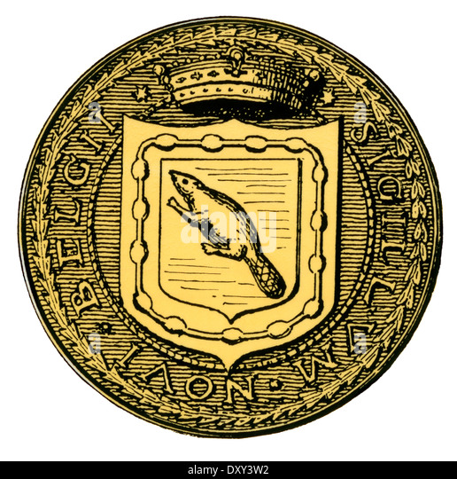 Seal of New Netherland. - Stock Image
