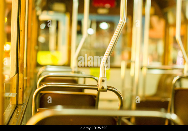 empty or nobody concepts of tram in Hong Kong. - Stock Image