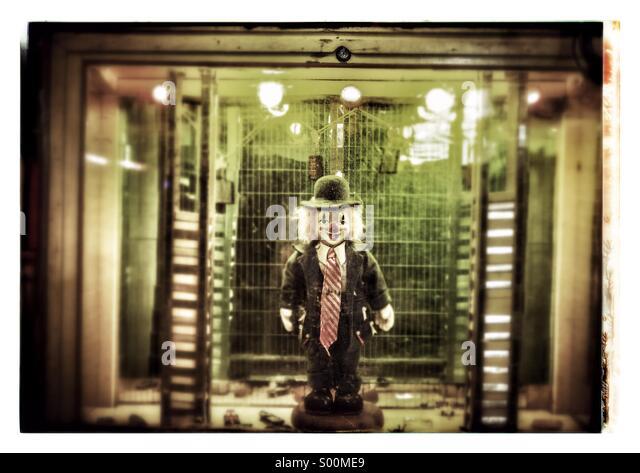 Clown game at circus - Stock Image