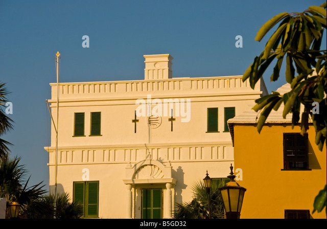 Bermuda The Old State House 1620 tourist attraction town of st george - Stock Image