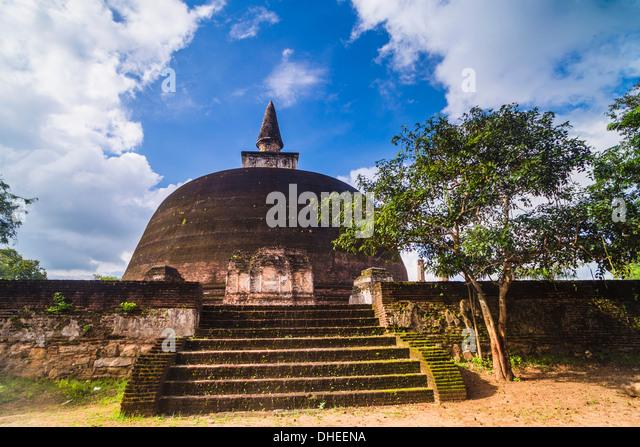 Rankot Vihara Dagoba, Polonnaruwa, UNESCO World Heritage Site, Sri Lanka, Asia - Stock-Bilder