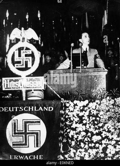 Jan. 01, 1930 - Germany - File Photo: circa 1930s, exact location unknown. Nazi leader JOSEPH GOEBBELS. - Stock Image