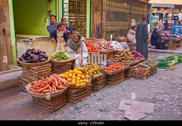Market, Aswan, Egypt, North Africa, Africa - Stock Image