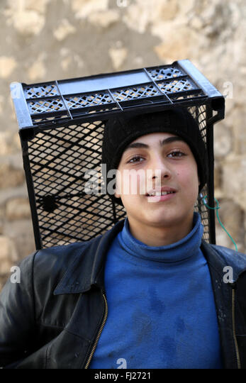 Portrait of  Kurdish man - Northern Kurdistan - Turkey - Stock Image