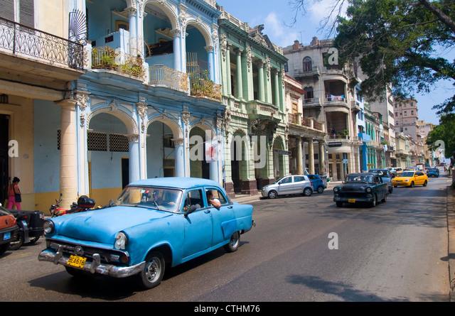Vintage Car, La Havana, Cuba - Stock Image