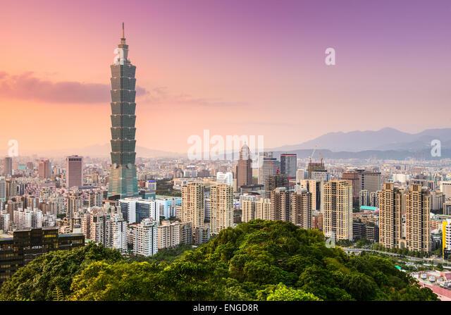 Taipei, Taiwan skyline of the Xinyi District. - Stock Image