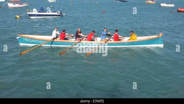 Isles of Scilly Gig 'Tregarthen's' - 1 - Stock Image