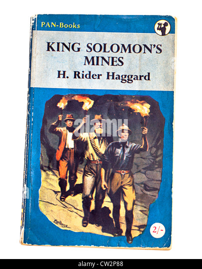 Classic childrens adventure story book King Solomon's Mines by H. Rider Haggard published by Pan - Stock Image