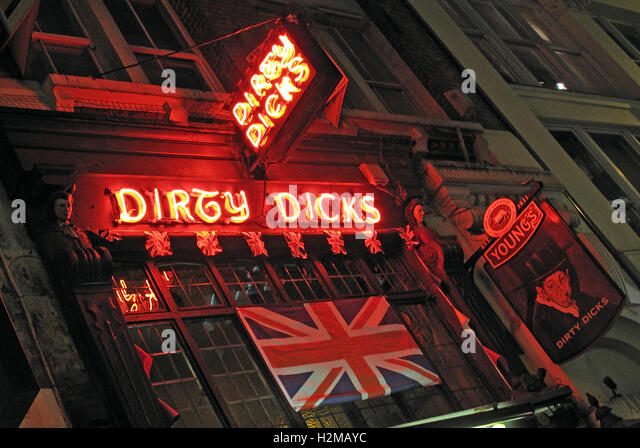 Dirty Dicks 18th Cent Pub, Liverpool Street/ Bishopsgate, London, UK - Stock Image