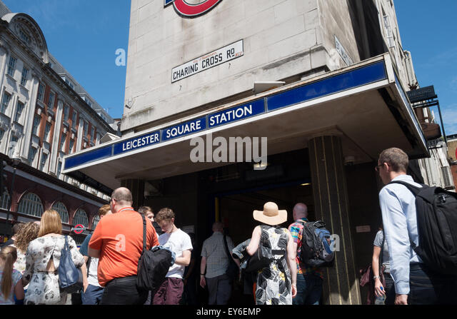 Leicester Square Underground tube station, London WC2 UK - Stock Image