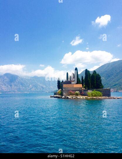 Monastery Island in Montenegro Bay of Kotor - Stock-Bilder