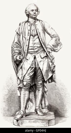 Antoine Mégret of Étigny, 1719-1767, French director intendant of the generality of Gascogne, France - Stock-Bilder