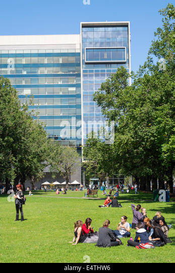 Melbourne Australia Victoria Carlton Parkville University of Melbourne campus school University Square Law School - Stock Image