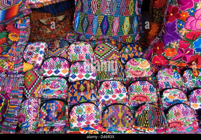 Guatemalan handicrafts for sale - Stock Image