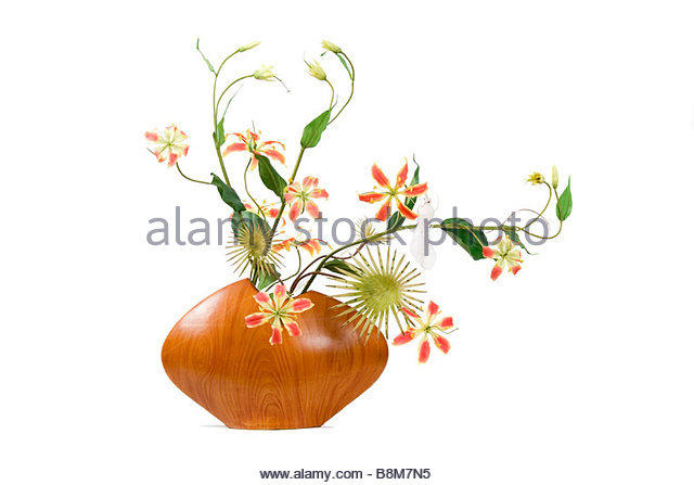 Exotic flower display - Stock Image