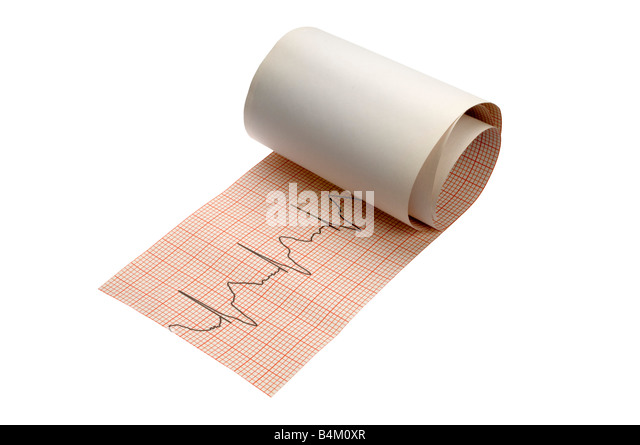 heart strip rolled out on white - Stock Image