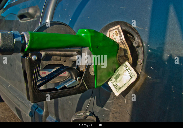 High cost of fuel - conceptual - Stock Image