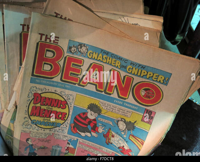 Collection of historic Beano Comics August 22nd 1987 - Stock Image