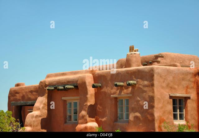Adobe style house, Arizona, USA - Stock-Bilder