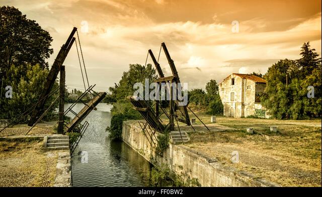 Van Gogh bridge in Arles, France, Provence, Camargue, - Stock Image