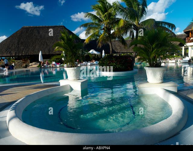 Swimming pool maritim hotel mauritius stock photos for Swimming pool mauritius
