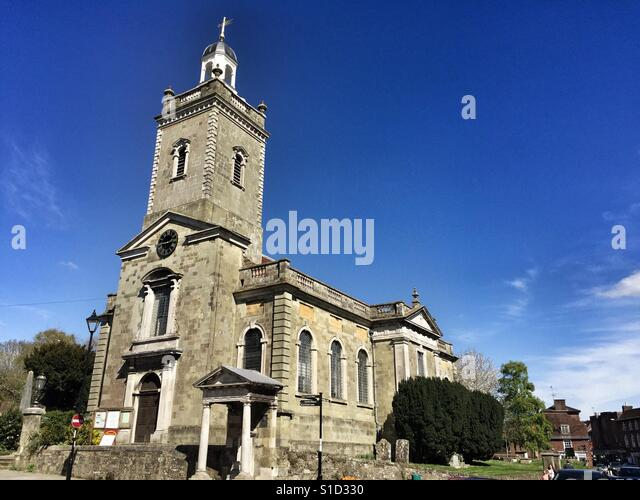 St Peter's & St Paul's Episcopal church in Blandford Forum, England - Stock Image