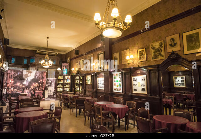 Famous Cafe Tortoni,  Buenos Aires, Argentina - Stock Image