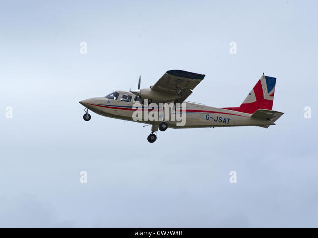 Commuter airliner and light utility aircraft. In service since 1981. Turboprop development of BN-2B Islander.  SCO - Stock Image