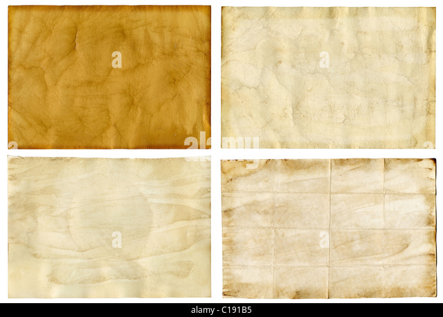 Four old grunge paper backgrounds - Stock-Bilder