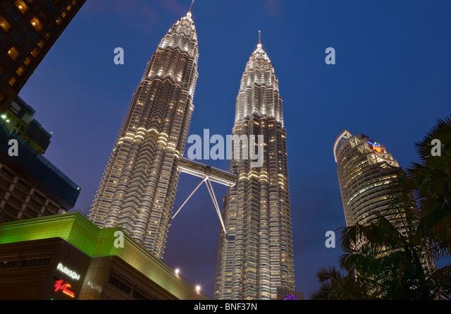Petronas Towers Kuala Lumpur Malaysia - Stock Image