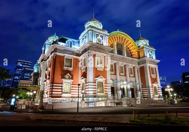 Osaka, Japan at Osaka Central Public Hall dating from 1918. - Stock Image